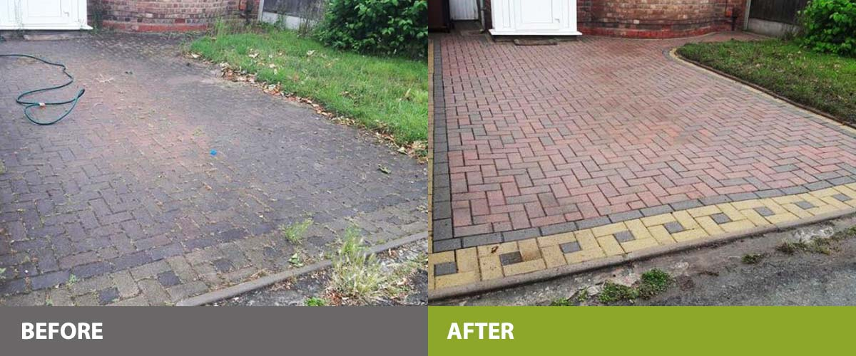 Driveway cleaning examples
